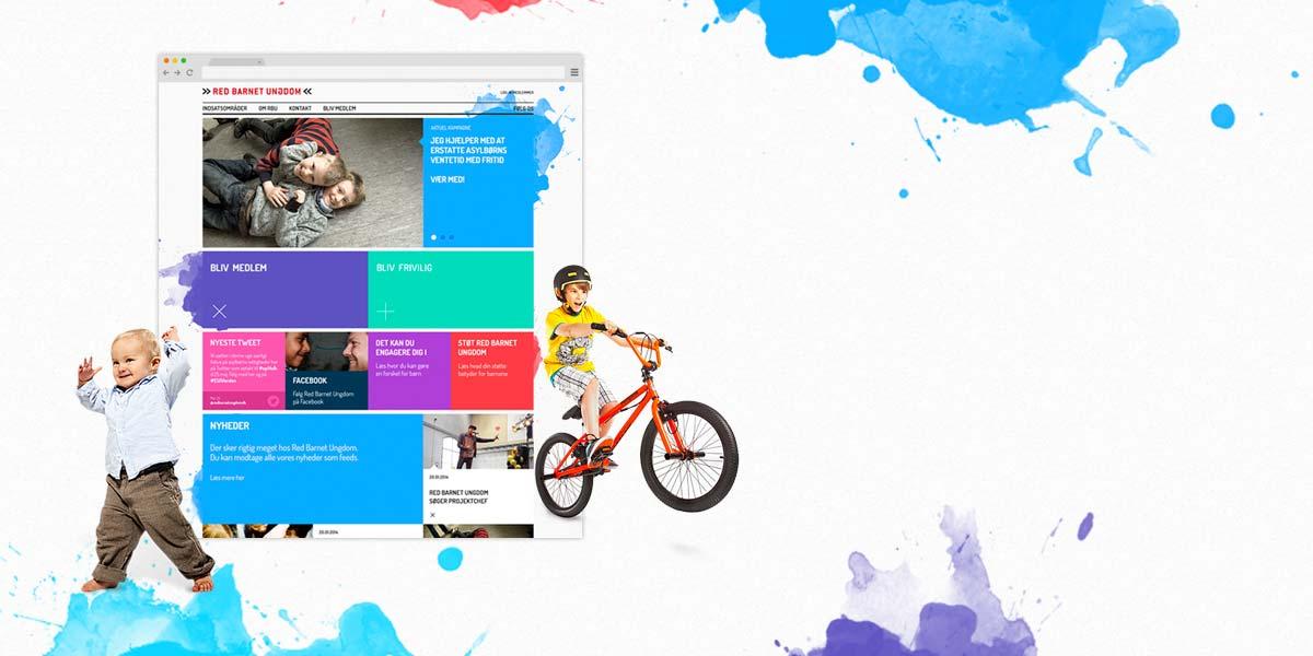Ny visuel profil til<br>Red Barnet Ungdom